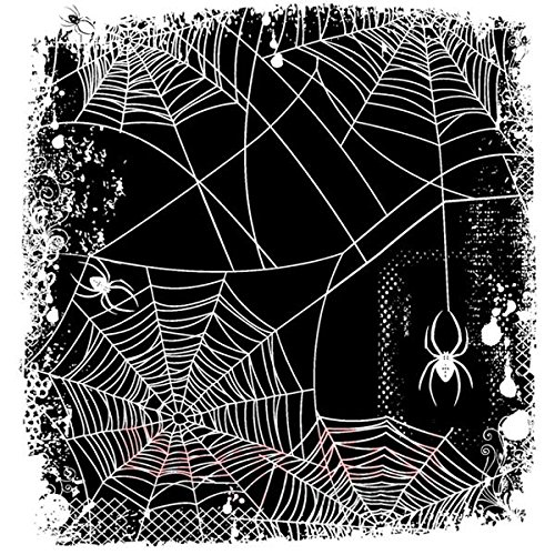 Deep Red Stamps Spider Web Background Rubber