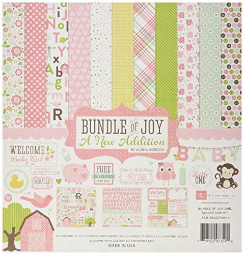 Echo Park Paper Company Bundle of Joy Girl 2 Collection Kit (Echo Park Bundle Of Joy Girl)