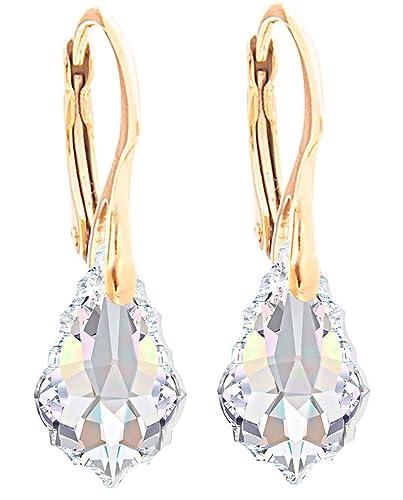 233a7150c Ah! Jewellery® Women's Beautiful Aurore Boreale Earrings. Crystals from  Swarovski