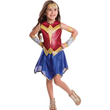 Girls Wonder Woman Movie Costume size Small 4-6  sc 1 st  Amazon.com & Amazon.com: Girls Wonder Woman Movie Halloween Costume: Clothing