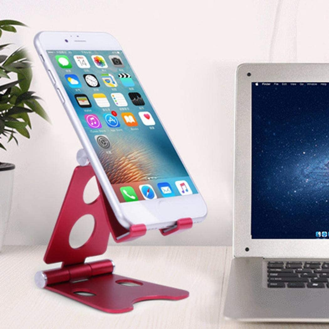 Mandii Portable Geometric Shape Folding Mobile Stand Desk Mobile Phone Holder Stands