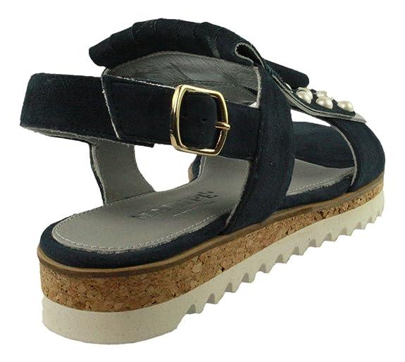 Sandalette mit Haferlasche und Perlen - blau Auslauf Billig Verkauf Veröffentlichungstermine Drop-Shipping JPhBo6
