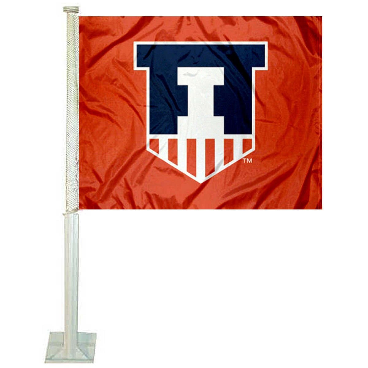 College Flags and Banners Co. Illinois Fighting Illini Car Flag