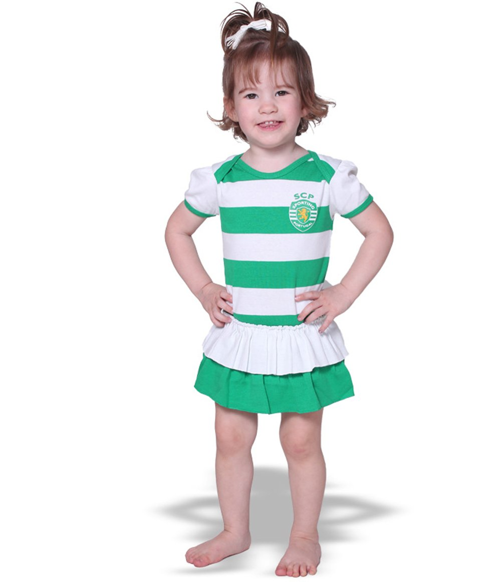 Sporting Lisbon Official Baby Girl Soccer Footysuit