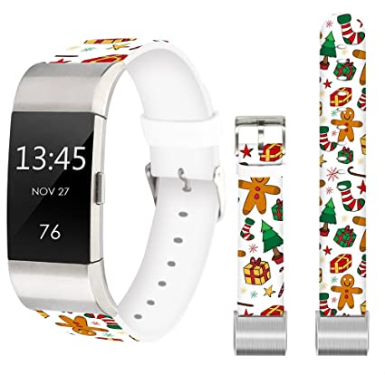 Large Band for Fitbit Charge 2,Jolook Replacement Leather Wristband Straps  Bands for Fitbit Charge 2 - Cute Christmas Gift Band