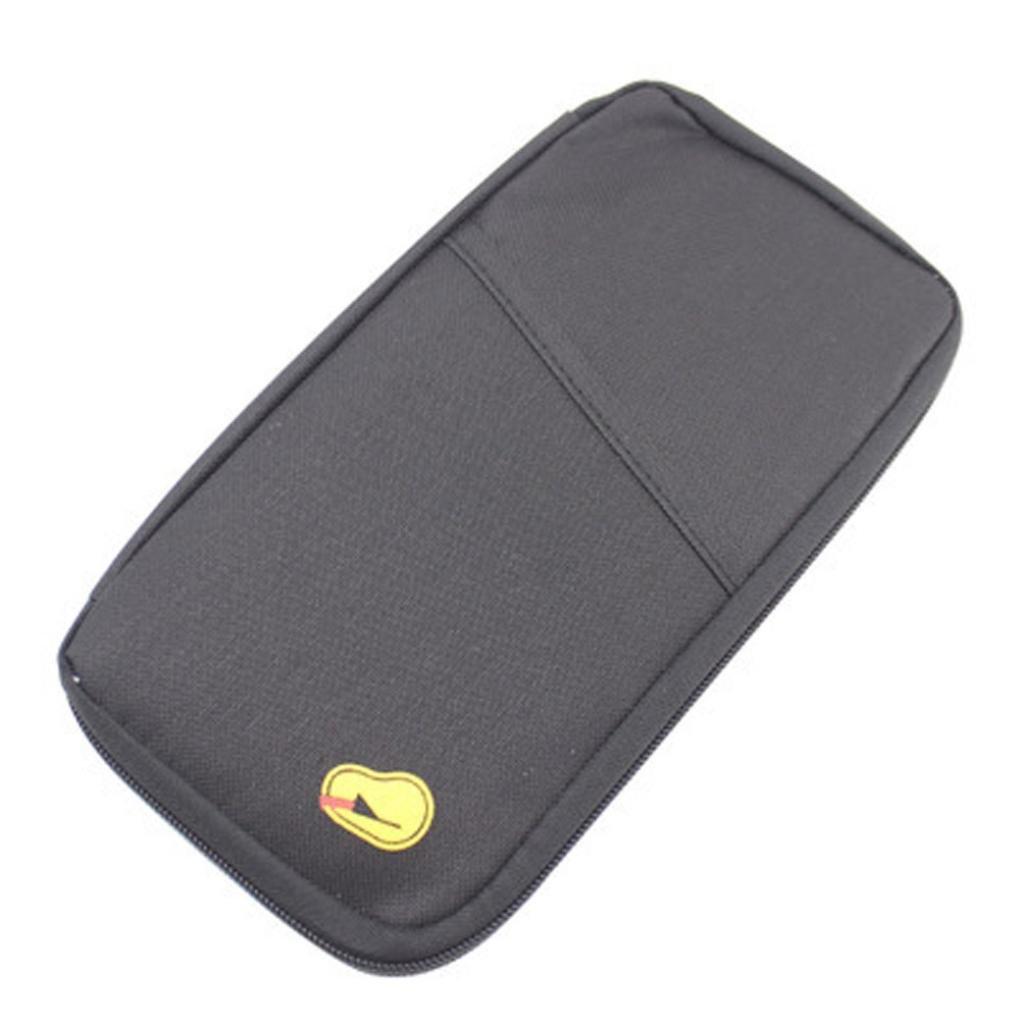 Viajes multifunción bolsa bolso pasaporte ID tarjeta de crédito billetera por Morwind (Azul)