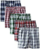 Apparel : Hanes Men's 5-Pack Tartan Boxer with Inside Exposed Waistband