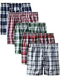 Men's 5-Pack Tartan Boxer with Inside Exposed Waistband