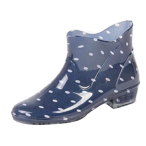 QUICKLYLY Botas De Agua Mujer Cortas/Altas Goma Impermeables Lluvia Botines Outdoor Hunter Antideslizante Bota Zapatos Tobillo Casual Calzado Boots Otoño E ...