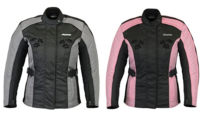 RKsports Black Belt Motorcycle Motorbike Textile Waterproof Jacket