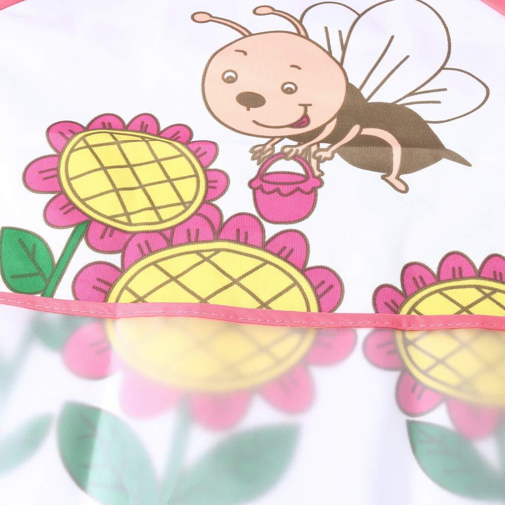 pengxiaomei - Delantal de bebé (3 Unidades, Unisex, Impermeable ...