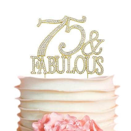 Amazon 75 Fabulous GOLD Cake Topper