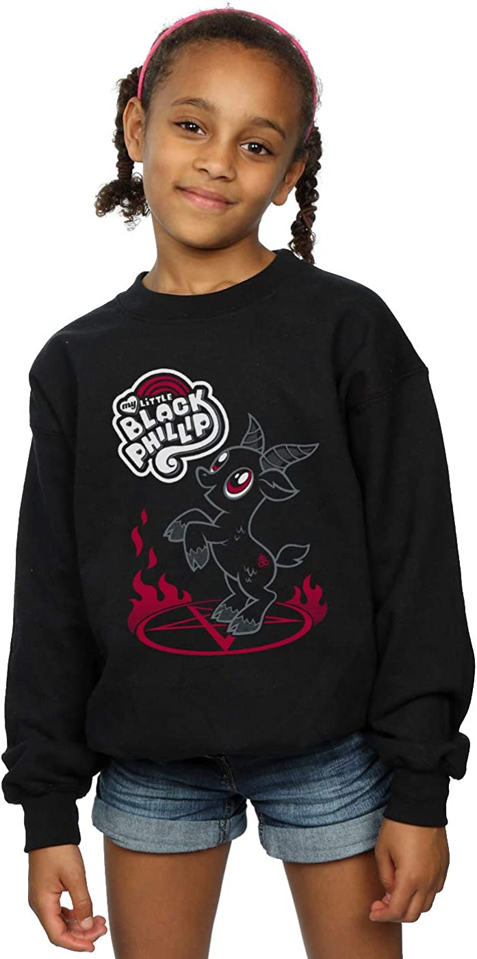 ABSOLUTECULT Nemons Girls My Little Black Phillip Sweatshirt