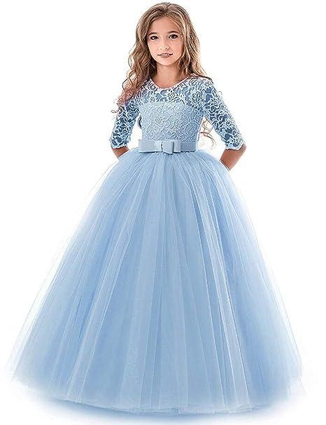 Blumenmädchen Langes Kleid Kinder Prinzessinnen Party Hochzeit Brautjungfer
