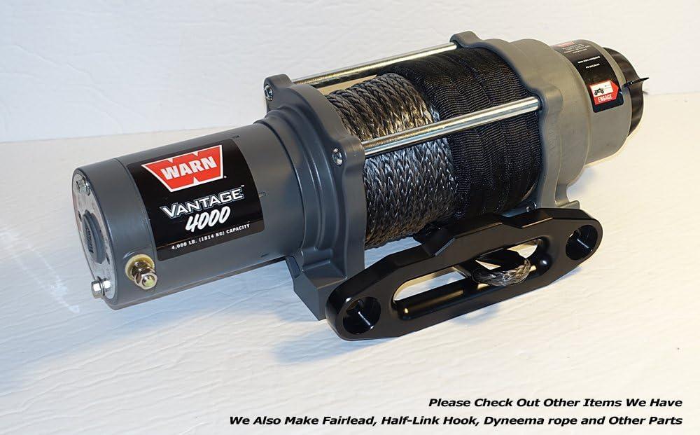 152.4MM Mount by Ultranger Glossy Black Ranger UTV Side by Side Aluminum Hawse Fairlead for 4000-5500 LBs UTV Winch 6