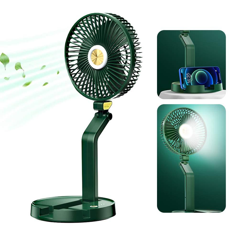 Qudodo Desk FanFolding Portable Travel Small Fan 5200mAh Battery Powered or USB