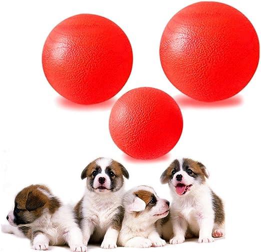 ZZM - Pelota de Goma Maciza para Cachorro, Perro, Juguete de Entrenamiento para Masticar, Juguetes de Cometa roja: Amazon.es: Productos para mascotas