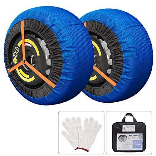 Shaddock Fishing Tire Socks Car Tire Traction Cover Socks Tire Chain Alternative Anti Slip Winter Traction Aid Snow/Ice/Slush Antiskid Car Truck SUV
