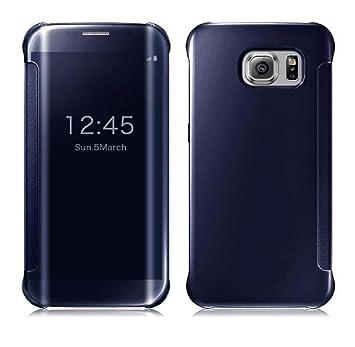 Ularmo® para Samsung Galaxy S7 Edge, Moda Espejo Carcasa, Azul Oscuro, Galaxy S7 Edge
