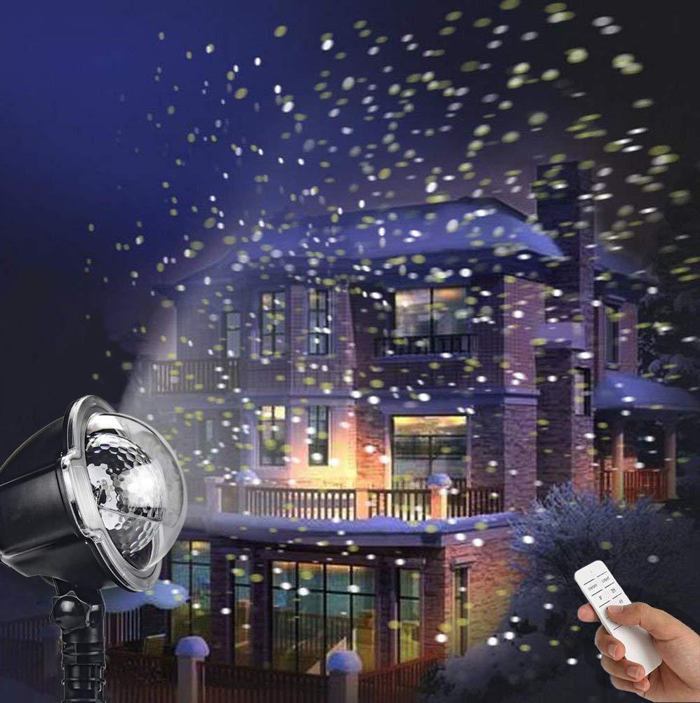 LED Projektionslampe, YINUO LIGHT Weihnachtsprojektor Lichter Projektions Lampe mit Fernbedienung Schneefall-Lichteffekt Stimmungsbeleuchtung Beleuchtung für Weihnachten Party Geburstag Hochzeit CREASHINE