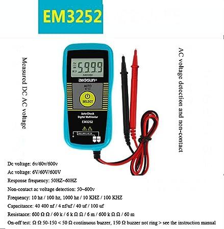 XRFHZT Multímetro, Mini multímetro Digital de Alta precisión ...