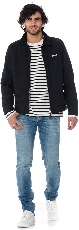 Schott NYC Lenox Blouson Homme Bleu (Navy)