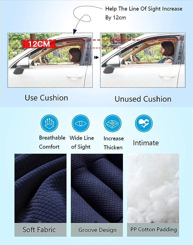 Amazon.com: Cojín para asiento de coche con elevación de ...