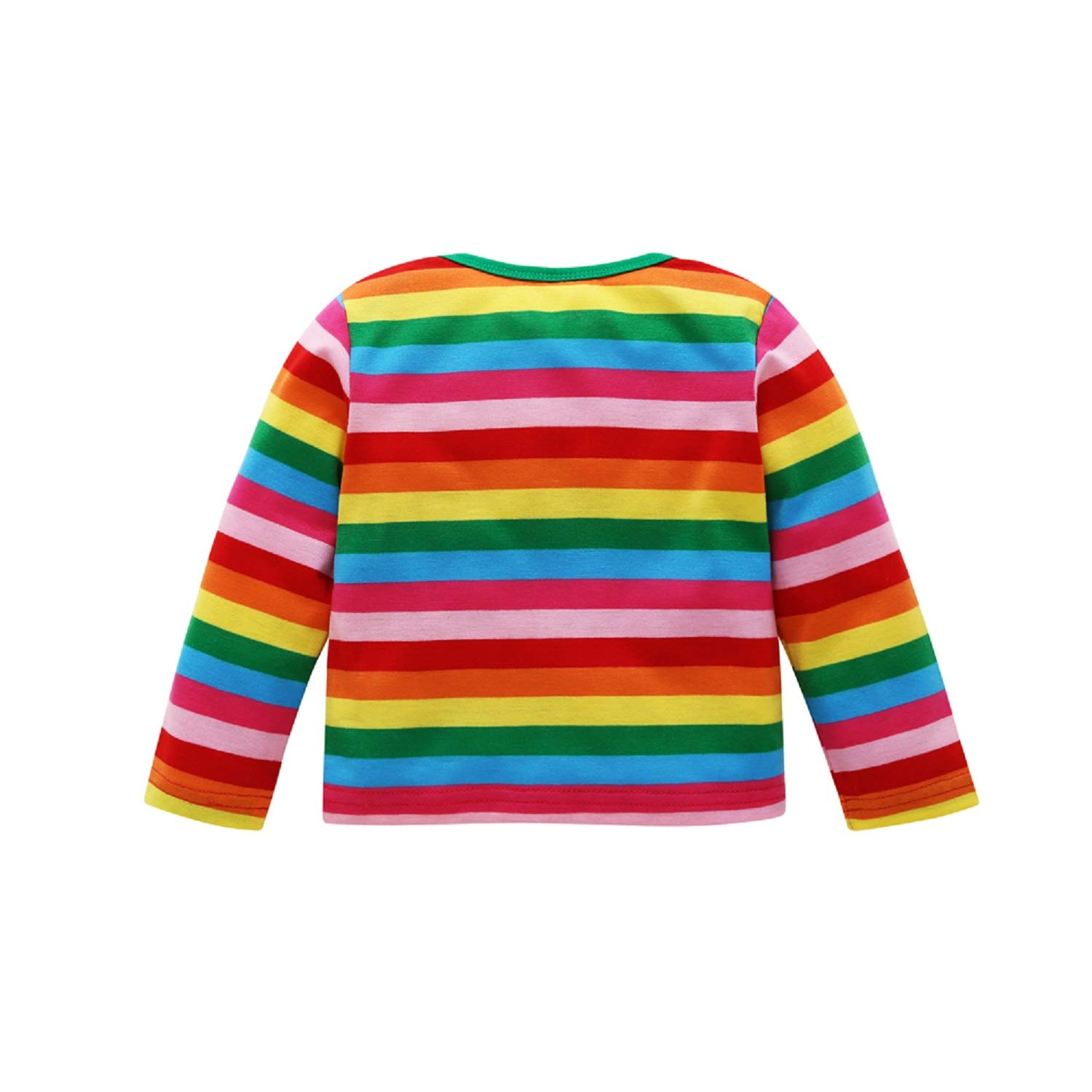 Baby Boy Rainbow Shirt Baby Girl Striped Long Sleeve Sweater Clothes