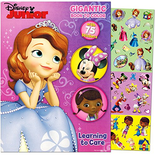 Disney-Junior-Gigantic-Coloring-Book-For-Girls-with-Stickers-224-Pages-Featuring-Sofia-the-First-Minnie-Mouse-and-Doc-McStuffins