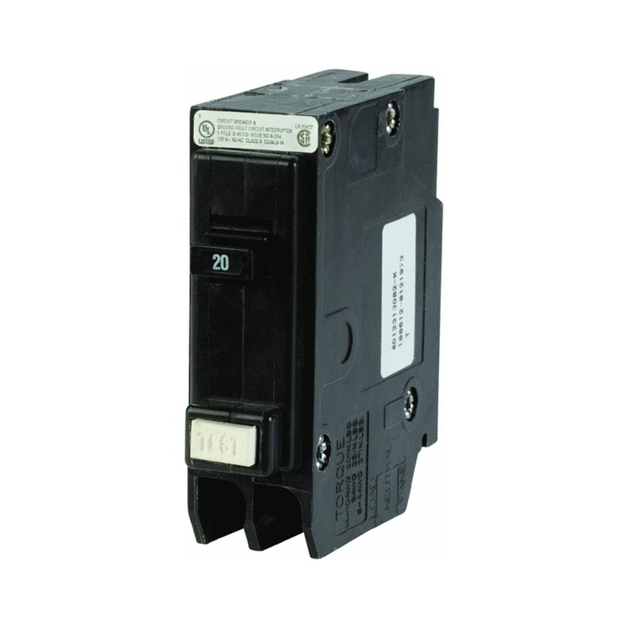 61pzIJl6f1L._SL1280_ eaton corporation gfcb120cs single pole ground fault interrupter eaton gfci breaker wiring diagram at gsmx.co
