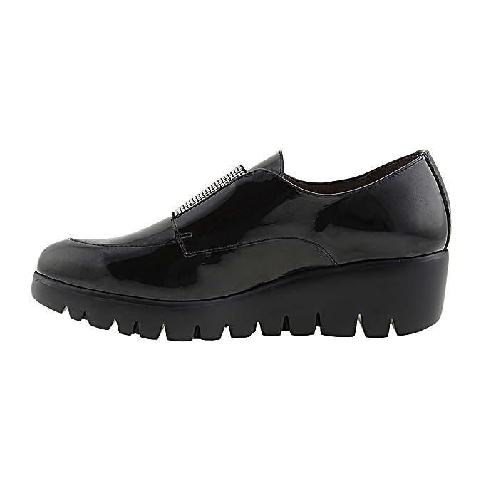Wonders Leather Shoes C-3397 Size: 41 Color Black: Amazon.co.uk: Shoes &  Bags
