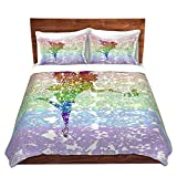 DiaNoche Designs Fairy Dance Rainbow Home Decor Cover, 7 Queen Duvet Sham Set