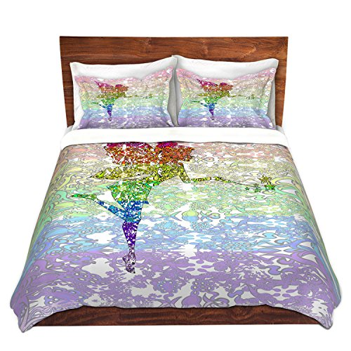 DiaNoche Designs Fairy Dance Rainbow Home Decor Cover, 2 Twin Duvet Only 68'' x 90'' by DiaNoche Designs