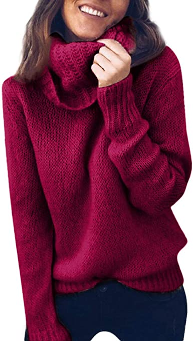 Womens Long Sleeve Sweater Blouse Ladies Jumper Pullover Top
