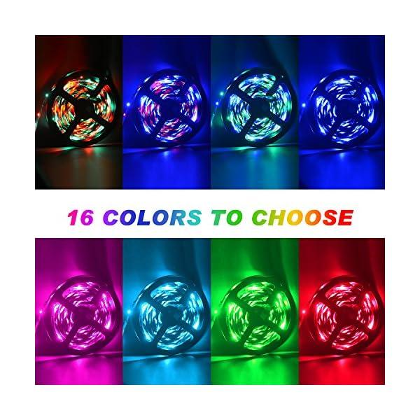 LED Strip Lights, 16.4ft RGB LED Light Strip 5050 LED Tape Lights, Color Changing LED Rope Lights with Remote for Home… 2