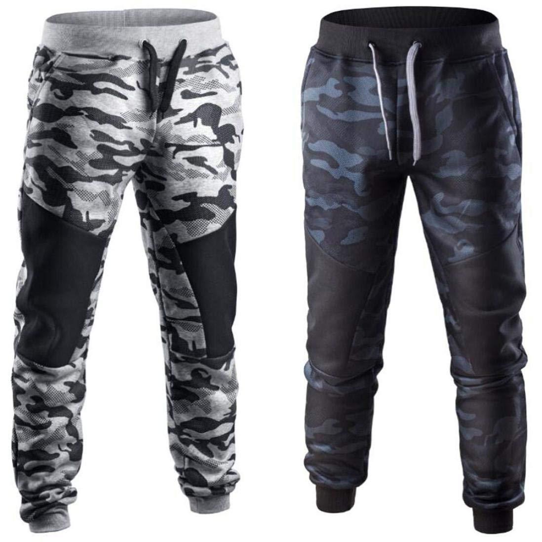 ♚ Pantalones de chándal con Cordones Hombres,Pantalones de Camuflaje de Patchwork Casual de Primavera Absolute: Amazon.es: Ropa y accesorios
