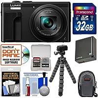 Panasonic Lumix DMC-ZS60 4K Wi-Fi Digital Camera (Black) with 32GB Card + Case + Battery + Flex Tripod + Kit At A Glance Review Image