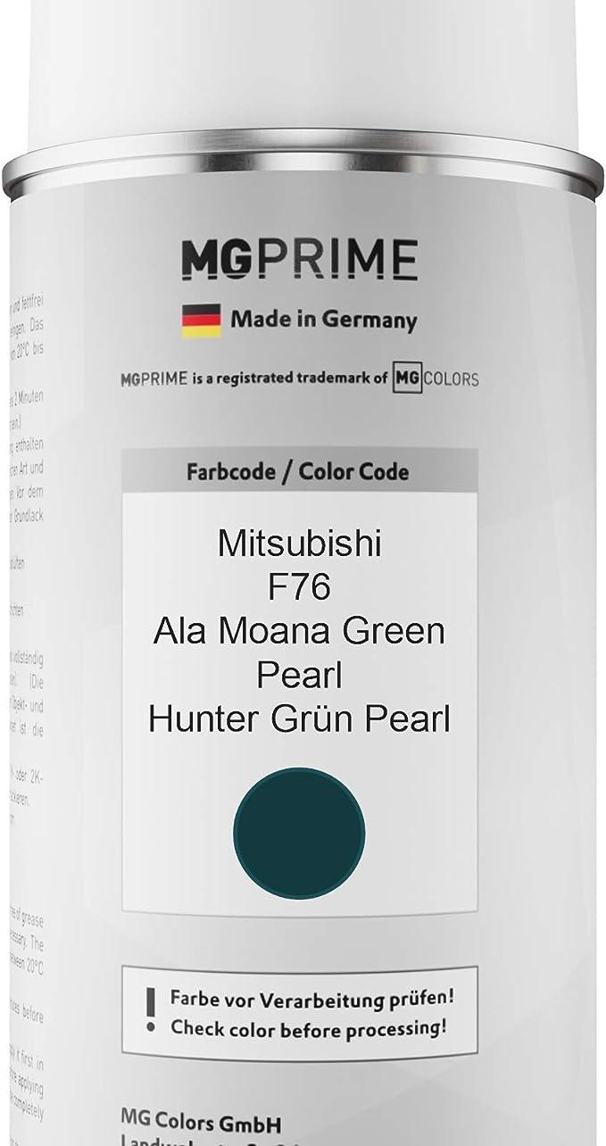 Mg Prime Autolack Sprühdosen Set Für Mitsubishi F76 Ala Moana Green Pearl Hunter Grün Pearl Basislack Klarlack Spraydose 400ml Auto