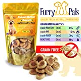 Grain Free Dog Treats – Peanut Butter – All Natural – Manufactured in the USA – Gluten Free Dog Treats by Furry Pals