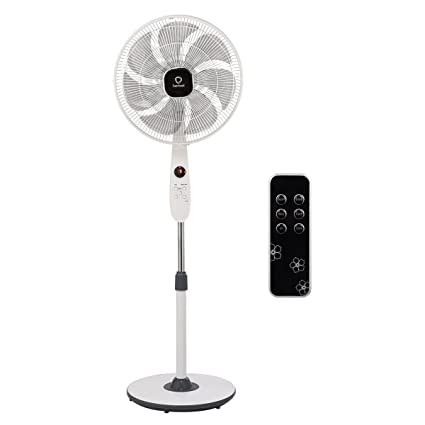 Toolsempire Pedestal Fan Quiet High Velocity Oscillating Stand Fans with Remote (7 Blades)