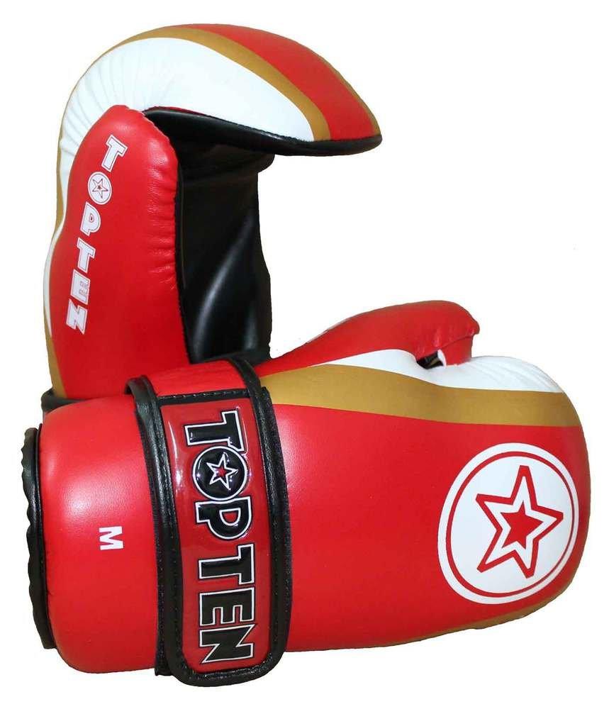 Top Ten Semikontakt-Handschuh TopTen Star & Stripes, Rot B072WFGRSV Boxhandschuhe Online