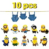 Vocado Action Figures, Anime Figures, 10pcs Small Lovely Action Figures Toy, Inner Car and Desktop Decor, Prefect Choice for