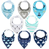 Deals on 8-Pack YOOFOSS Baby Bibs Bandana Bibs for Boys and Girls