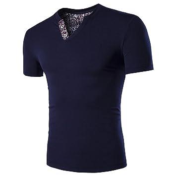 Hombre camiseta manga corta,Sonnena ❤ Camiseta casual para hombres Talla extra Camiseta de manga corta con cuello en V Blusa superior: Amazon.es: Hogar