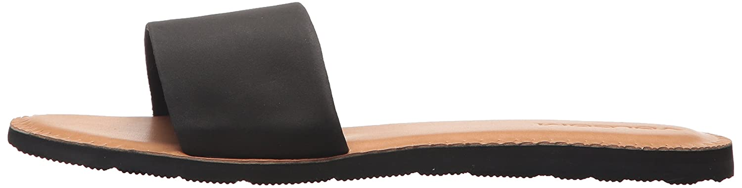 Volcom Womens Simple Synthetic Leather Strap Slide Sandal W0811816