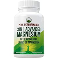 3 in 1 Advanced Magnesium Complex Vegan Capsules by Peak Performance. High Absorption and Bioavailability. 3 Best…
