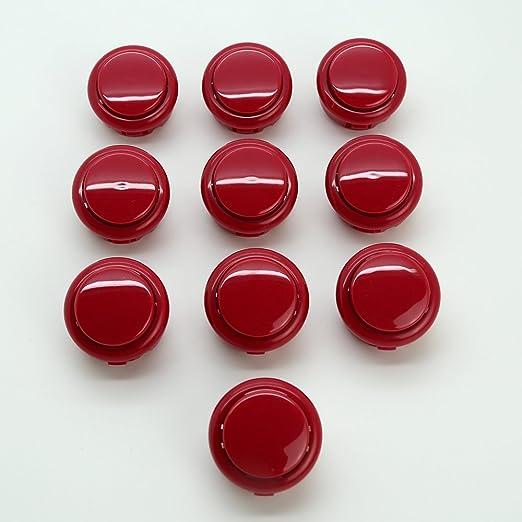 10x Arcade Push Button Perfect Replace for SANWA OBSF-30 OBSN-30 Arcade Button