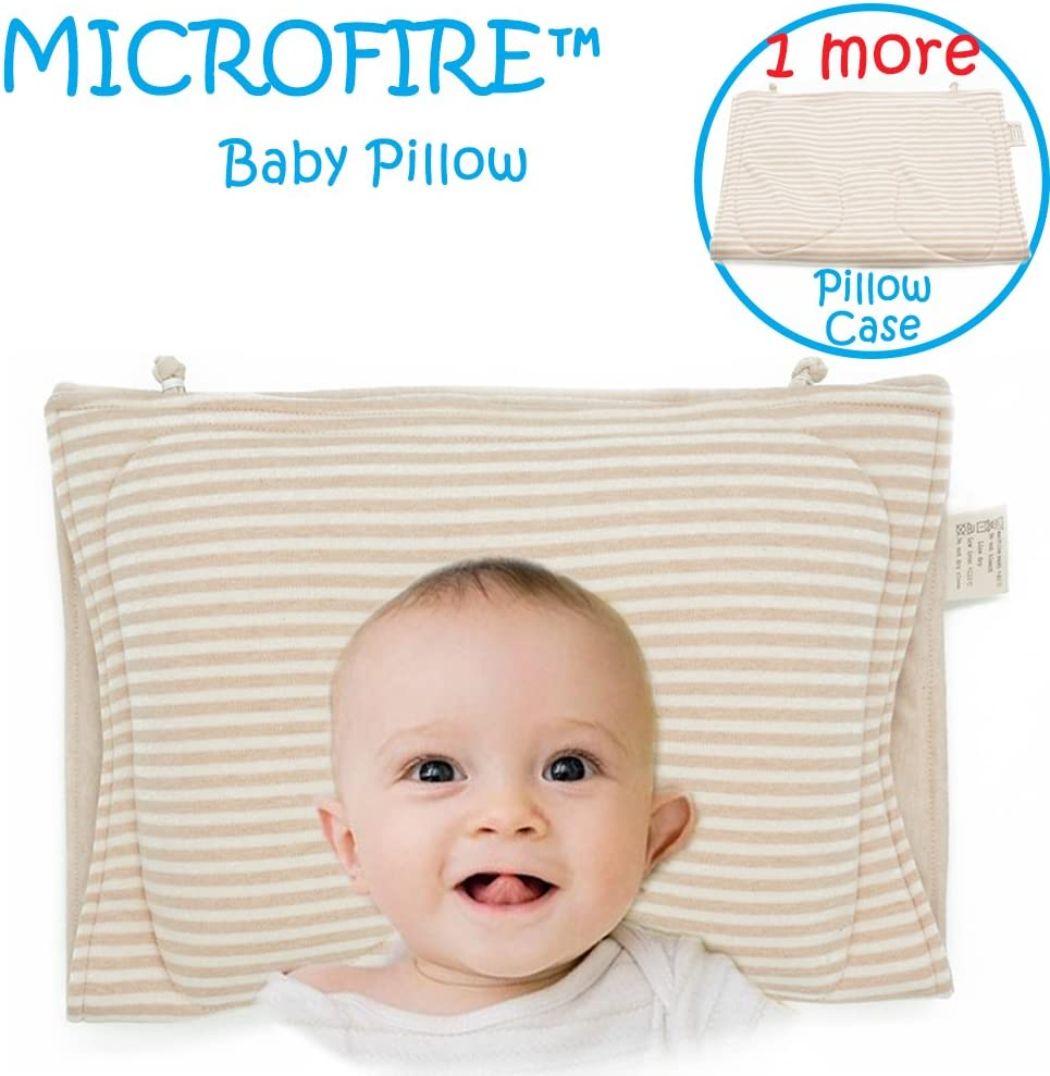 MICROFIRE Newborn Baby Pillow Flat Head