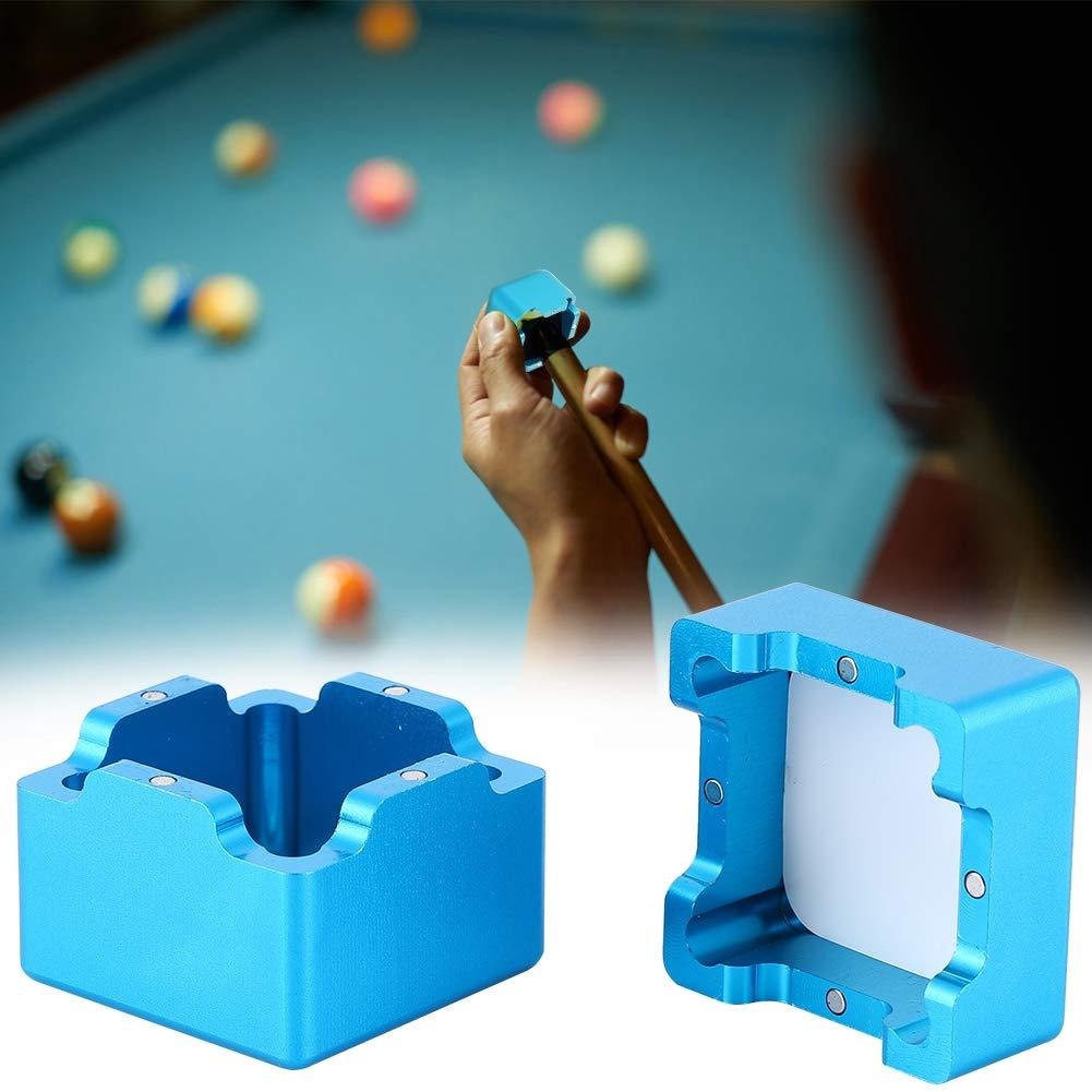Alomejor Mini Queue Tip Kreidehalter Billard Queue Kreidehalter Magnetic Kreidehalter Kreide Carrier Case