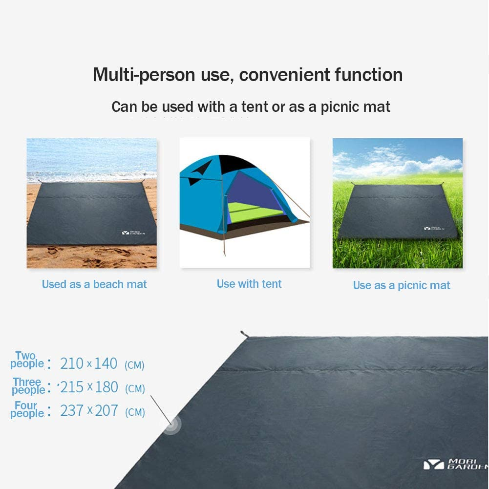ZXCO - Coperta da picnic, impermeabile, coperta da campeggio, coperta da spiaggia, coperta per esterni, morbida, senza sabbia, campeggio, escursionismo, isolamento termico e B